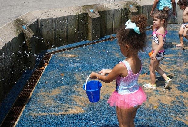 Heckscher Playground has plenty of water to play in