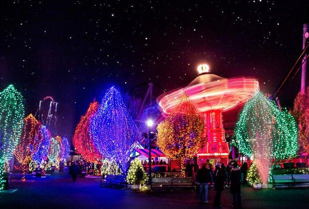 Hersheypark's Christmas Candylane decks the park in sweet seasonal colors. Photo courtesy of Hersheypark