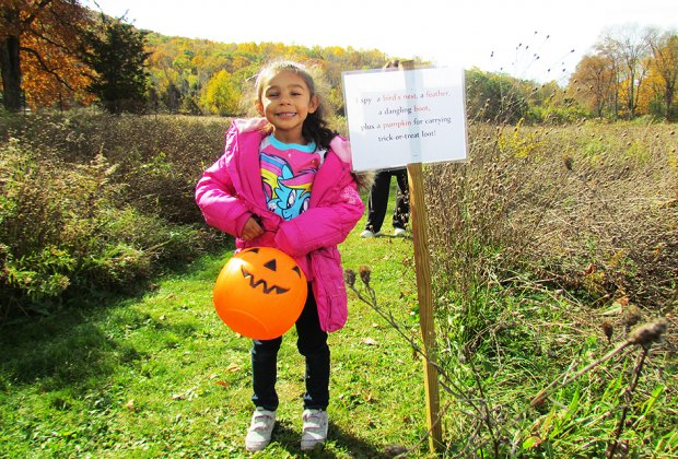 "Find adventure on the ""I Spy"" Halloween Nature Trail in Cornwall. Photo courtesy of the Hudson Highlands Nature Museum"