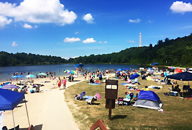High Point State Park provides a family-friendly atmosphere, with hiking, fishing, boating, and lake swimming during the summer. Photo courtesy of the  High Point State Park, Division of Parks and Forestry