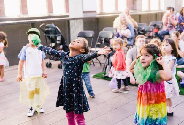Explore singing, dancing, and movement at the High Line Family Festival. Photo courtesy of the High Line