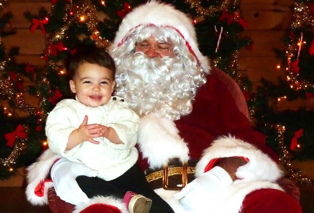 Pose for a pic with Santa at the charming Historic Longstreet Farm. Photo courtesy of the farm