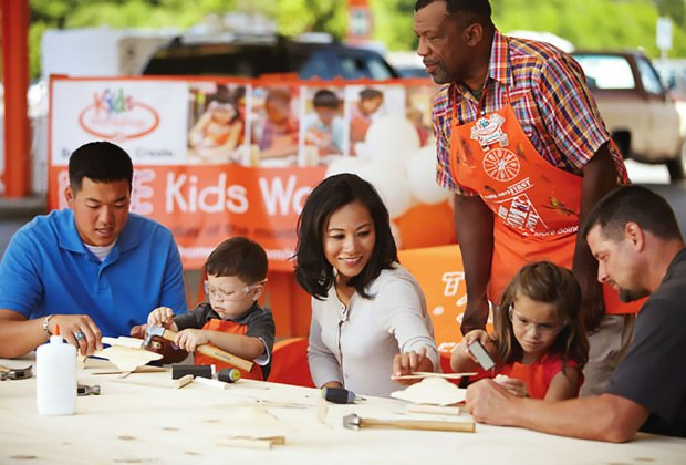 Home Depot stores offer kids' workshops on the first Saturday of the month. Photo courtesy of Home Depot