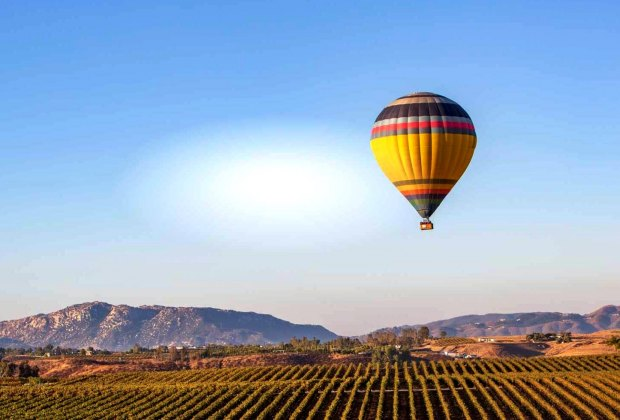 Get out of this world in a hot air balloon with California Dreamin' in Temecula