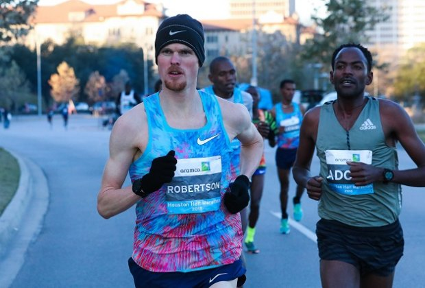 Come out and support all of Houston's runners during the annual Chevron Houston Marathon & Aramco Half Marathon./Photo courtesy of Victor Sailer, Houston Marathon Committee.
