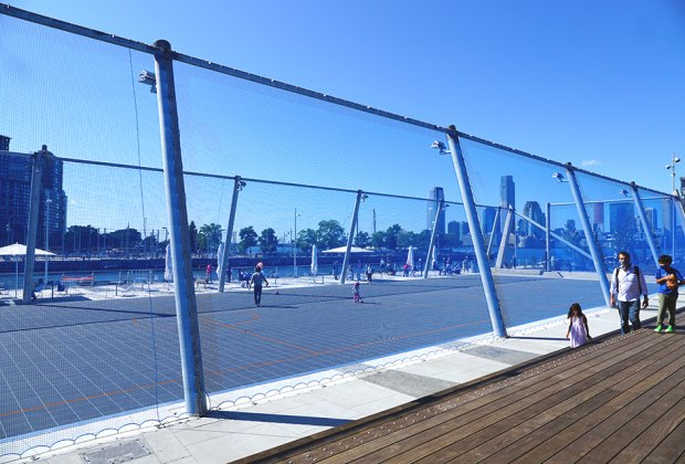 Sport courts offer space for recreation at Pier 26 in Hudson River Park