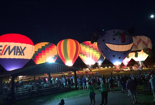 The Moon Glow is one of the highlights of the Hudson Valley Balloon Festival. Photo courtesy of the festival