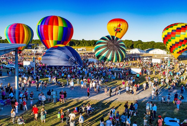 Watch the sky fill with color and maybe even take a ride at the Hudson Valley Hot-Air Balloon Festival. Photo courtesy of the festival