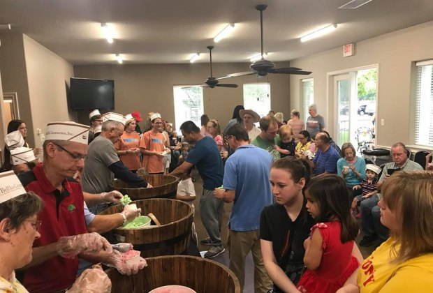 Families can head to a good, old-fashioned Ice Cream Social on Labor Day. Photo courtesy of Keep Friendswood Beautiful.