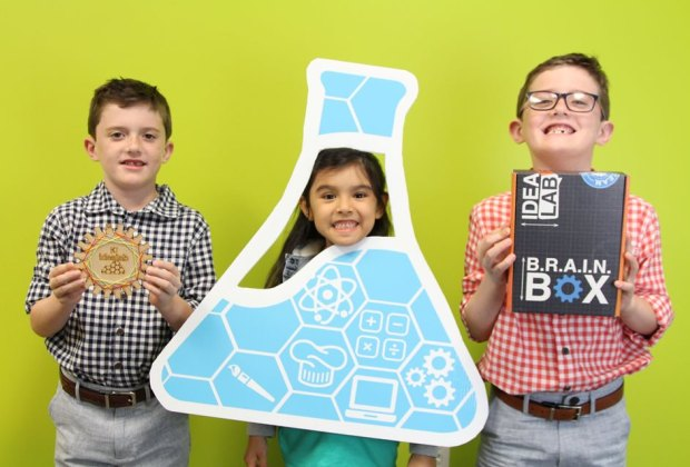Kids explore a variety of STEAM activities at Idea Lab Kids. Photo courtesy of Idea Lab Kids.