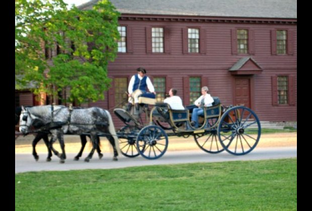 An Open Horse and Carriage Ride.