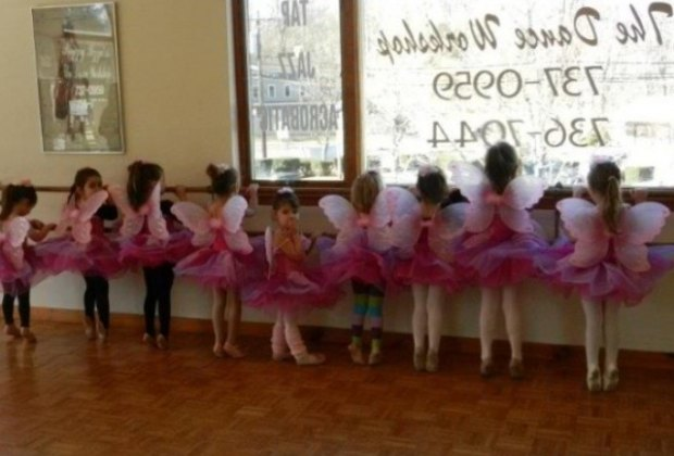 Budding ballerinas at the Peggy Izzo Dance Workshop