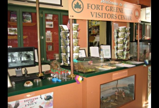 All sorts of flora and fauna are on display inside the small nature center ...