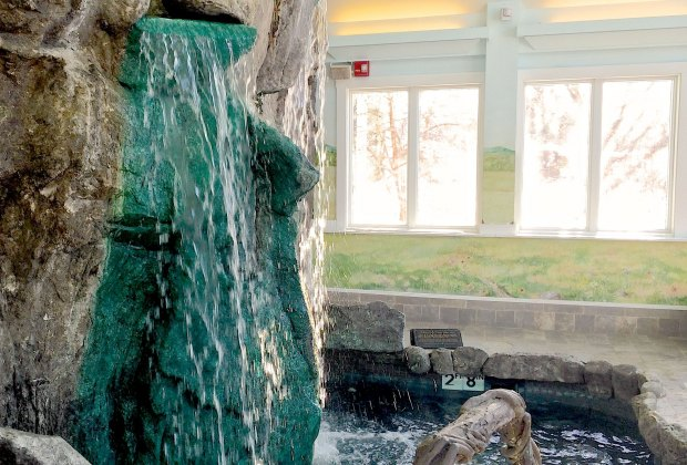 Hydrotherapy waterfall at the Stowflake spa is heavenly