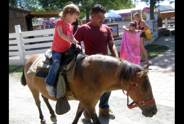 The best pony ride ever according to my daughter