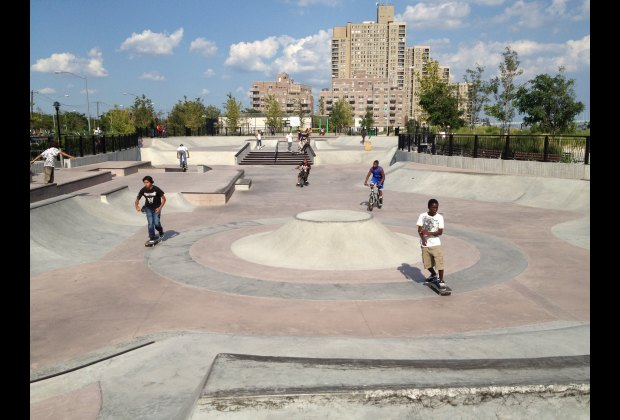 The 15,700-square-foot skatepark boasts ocean views