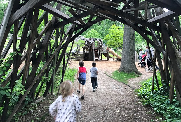 Greenburgh Nature Center offers nature trails and a petting zoo, as well as a fun nature playground.