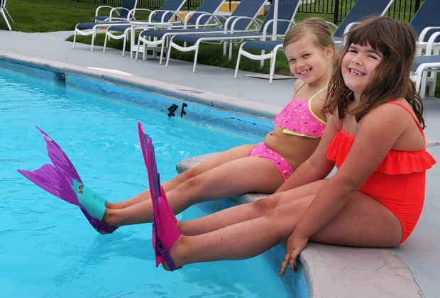 Get your fins wet at the pool at the Circle Inn.