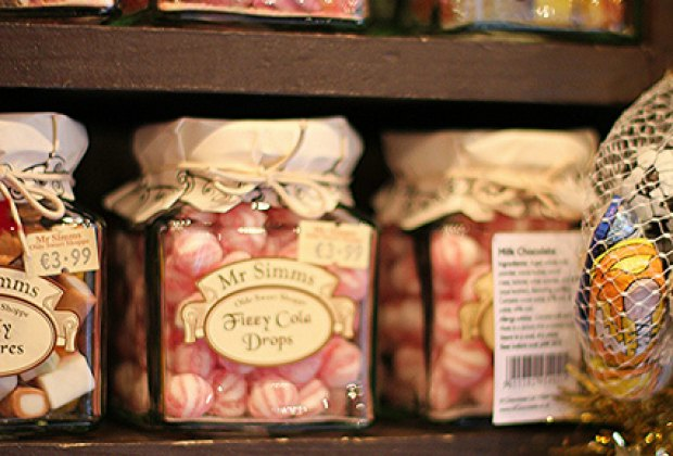 Mr Simm's Olde Sweet Shoppe sells old fashioned candies