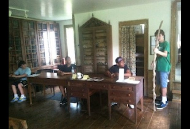 In the school house at CAMA