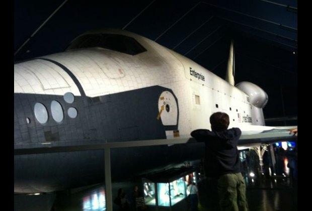 NASA Orbiter Enterprise in the Space Shuttle Pavillion