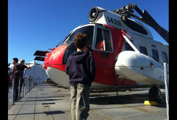 Kids can check out 27 aircraft on the Flight Deck...