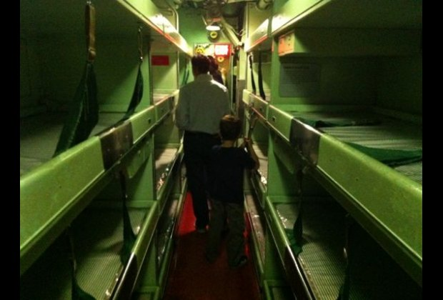 Close quarters on the USS Growler, a strategic missile submarine