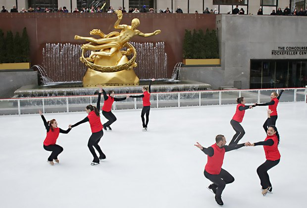 Ice Theater New York (ITNY) skates into Rockefeller Center before the rink closes for the season. Photo courtesy of ITNY
