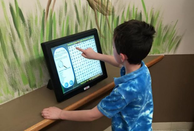 Fun touch-screen, bug-themed games