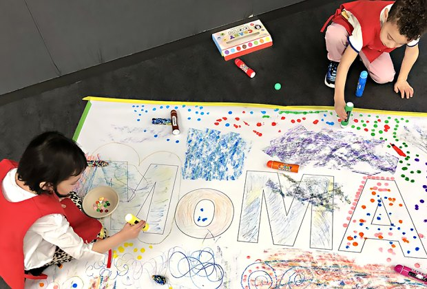 Participate in one the many family programs at MOMA. Photo by Janet Bloom