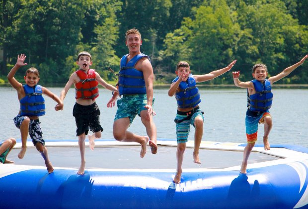 Water fun is tops at Jeff Lake Camp.