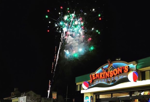 Jenkinson's Boardwalk lights up with fireworks on the 4th of July. Photo courtesy of Jenkinson's
