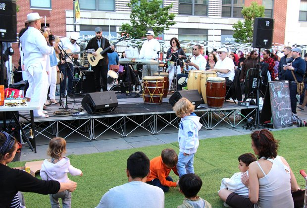 Enjoy free concerts at Groove on Grove every Wednesday from May–September.
