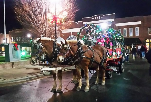 Take a carriage ride at Jingle on Main. Photo courtesy of the event