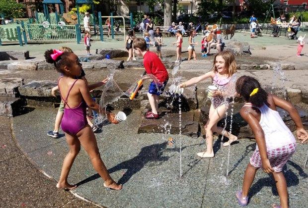 Spend the day at a sprawling spinkler park, like JJ Byrne. Photo by Al DiIngeniis