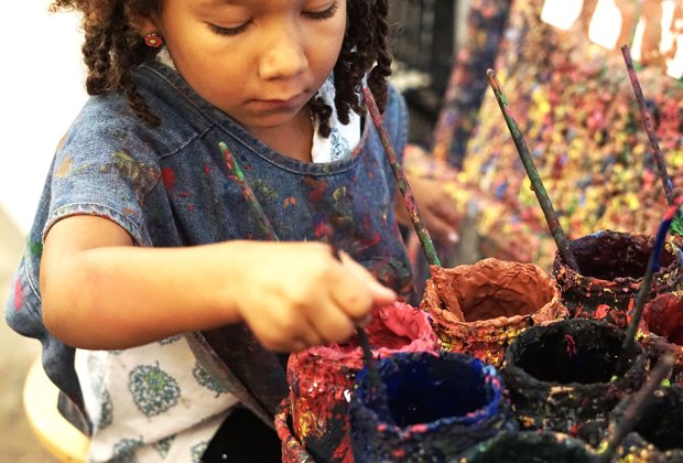 The Children's Museum of the Arts lets kids get creative...and messy.