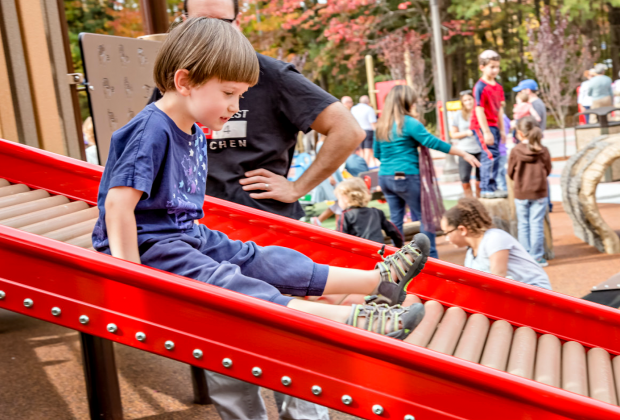 Interesting slides are part of the fun at Jonathon's Dream. Photo by Amy Sommers Photography