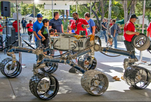 You never know what you'll see at JPL's Open House. Photo courtesy of NASA's Jet Propulsion Lab