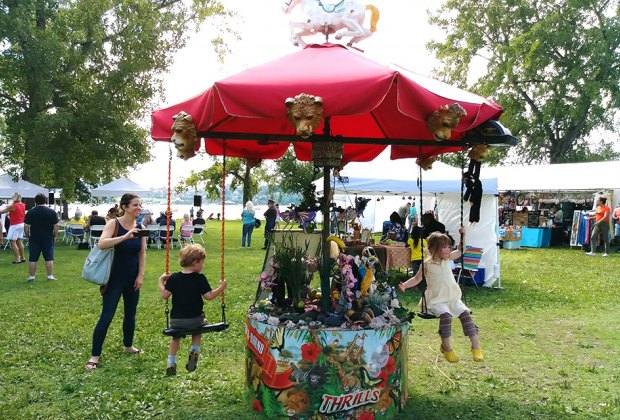 Find lots of kids' activities at the free Beacon Corn Festival on Sunday. Photo by Julia Sun