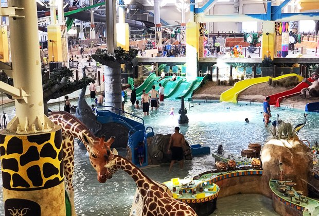 Kalahari's indoor water park has a jungle theme