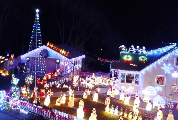 The Keeler display in Putnam Valley. Image courtesy of the home.