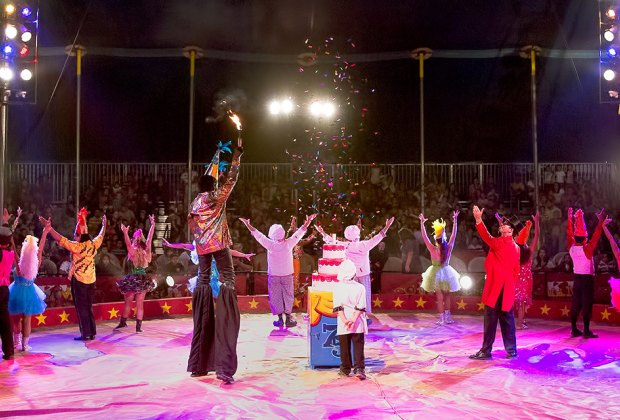 The Kelly Miller Circus features clowns, stunts, and amazing feats. Photo courtesy of the circus