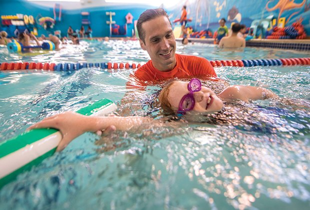 Goldfish Swim Schools in Garden City and Farmingdale offer programs for children as young as 4 months.