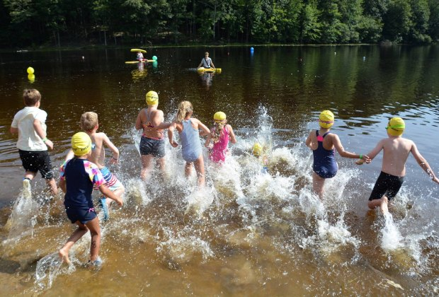 Kids test their mettle at a Children's Triathlon in Mansfield. Photo courtesy of Kids Who Tri Succeed