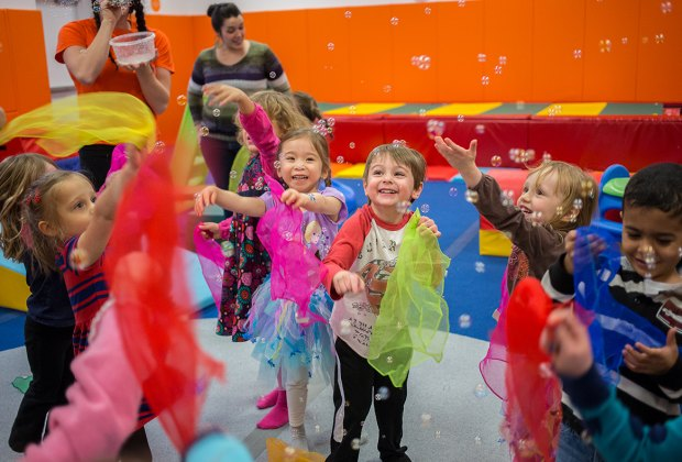 Take little ones to Kidville for fun-filled classes in music, dance, and more. Photo courtesy of Kidville