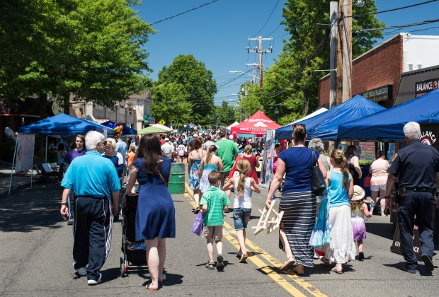 Stroll along Main Street during Kings Park Day in the Suffolk community. Photo courtesy of the Kings Park Chamber of Commerce