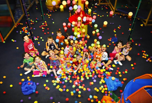 Dodge the foam balls and make your way to the summit at Kzam Next Generation Party Centers.