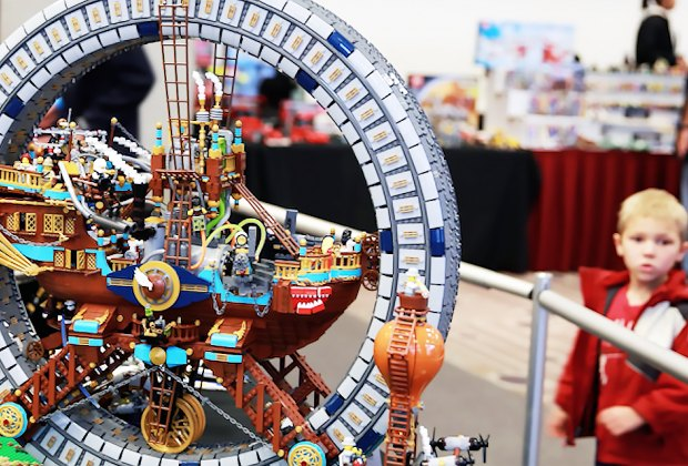 Kids and adults can marvel at what imagination can do at Bricks LA, LEGO fan event. Photo courtesy of the event