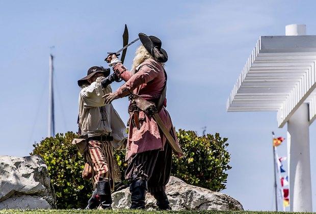 Pirates duel at the Marina. Photo courtesy of LA Marina Fest
