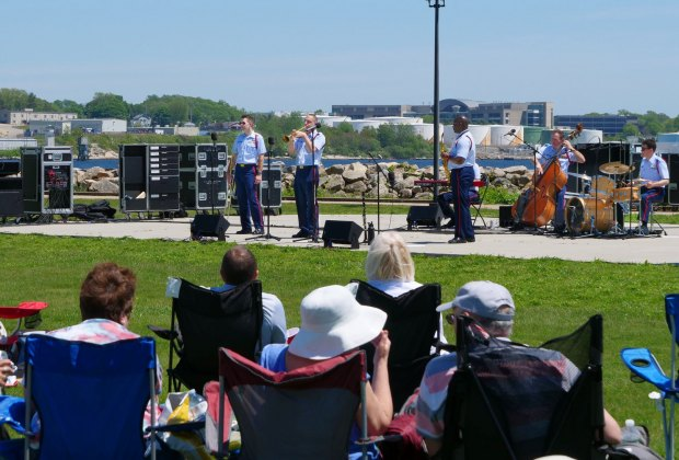 Labor Day Concert at Fort Trumbull State Park. Photo courtesy of United States Coast Guard Band